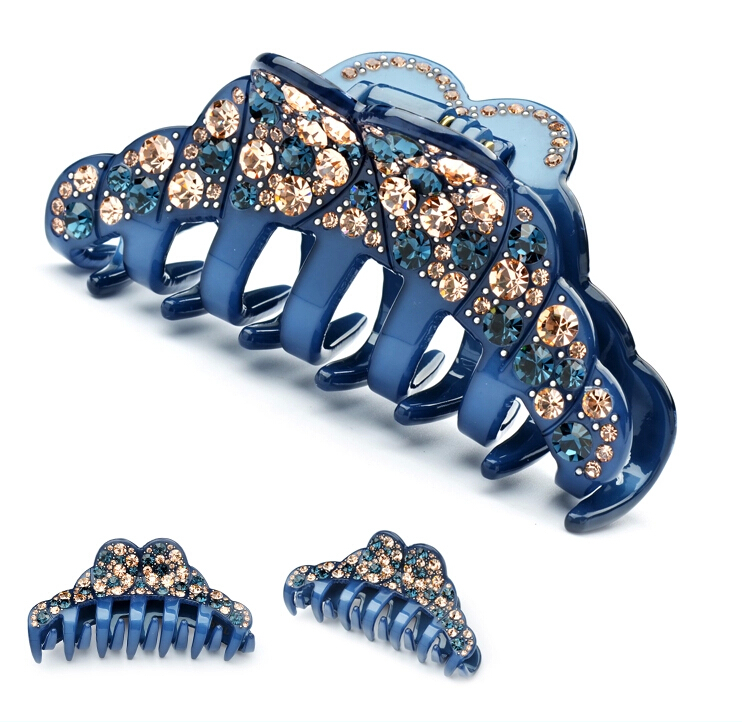 High Quality Expensive rhinestone headband acrylic clip for wedding fashion jewelry party hair claw free shipping AA50