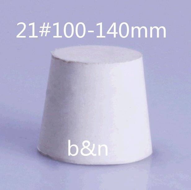 21 100 140mm Flask plug Tube laboratory test tube stopper The white rubber closing sealing plug