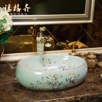 high quality countertop sinks ceramic wash basin oval small art bathroom basin