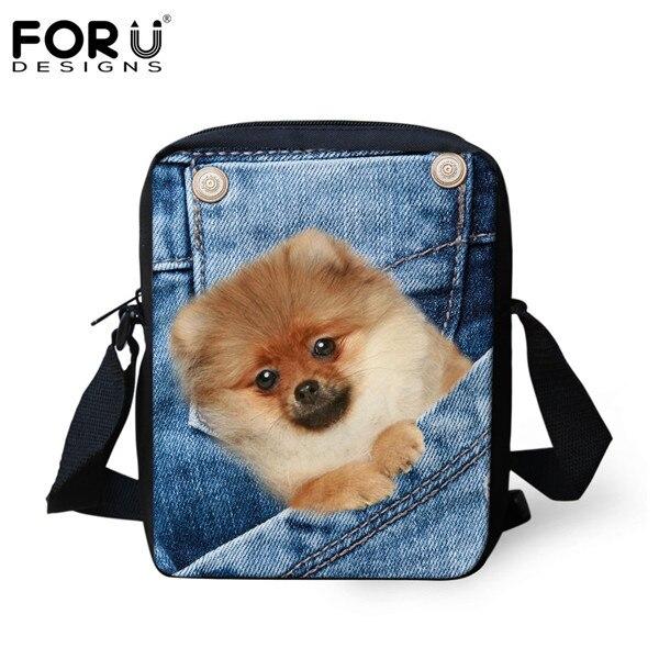 FORUDESIGNS/женская маленькая сумка через плечо с объемным рисунком собаки чихуахуа, модные женские сумки-мессенджеры, сумки через плечо - Цвет: CC1775E