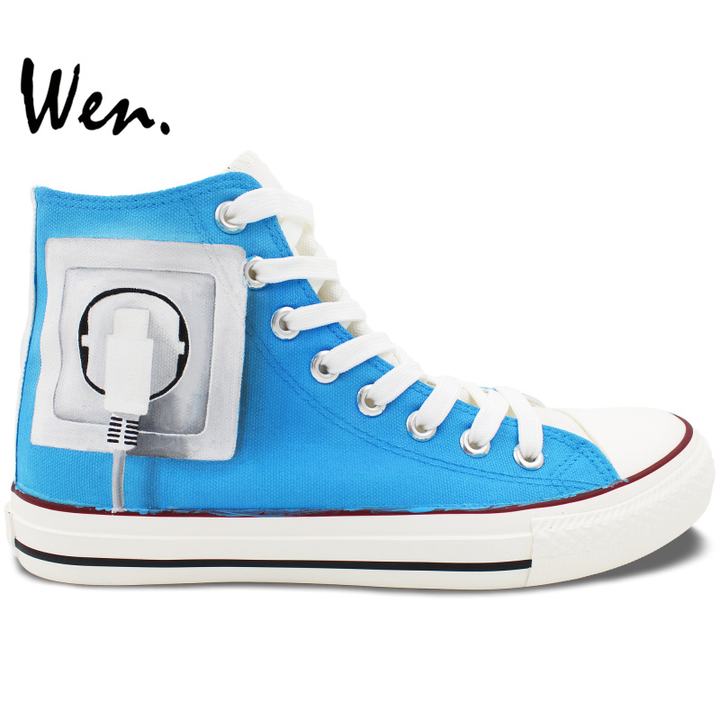 ФОТО Wen Original Hand Painted Shoes Design Custom Charge Brain High Top Men Women's Canvas Sneakers for Christmas Gifts