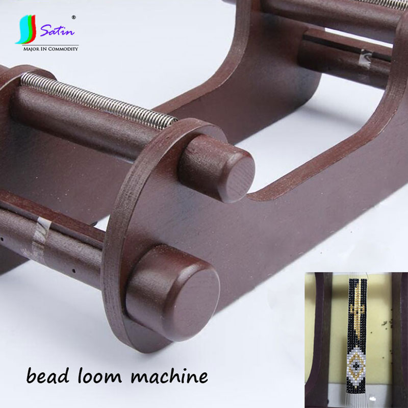 Home Handmade DIY Bead Bracelets necklaces belts earring Tool Wooden Weaving Beading Loom Machine S0548L