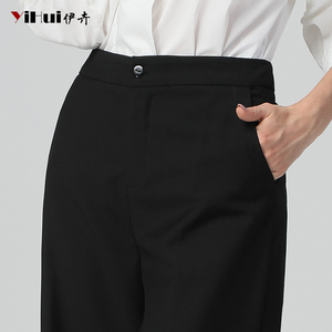Image 5 - Date bureau dames taille haute pleine longueur pantalon droit femmes pantalon poche veste pour homme grande taille 4XL noir doux pantalon plat