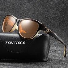 Очки солнцезащитные поляризационные для мужчин и женщин, роскошные брендовые дизайнерские Элегантные солнечные очки «кошачий глаз» для во...