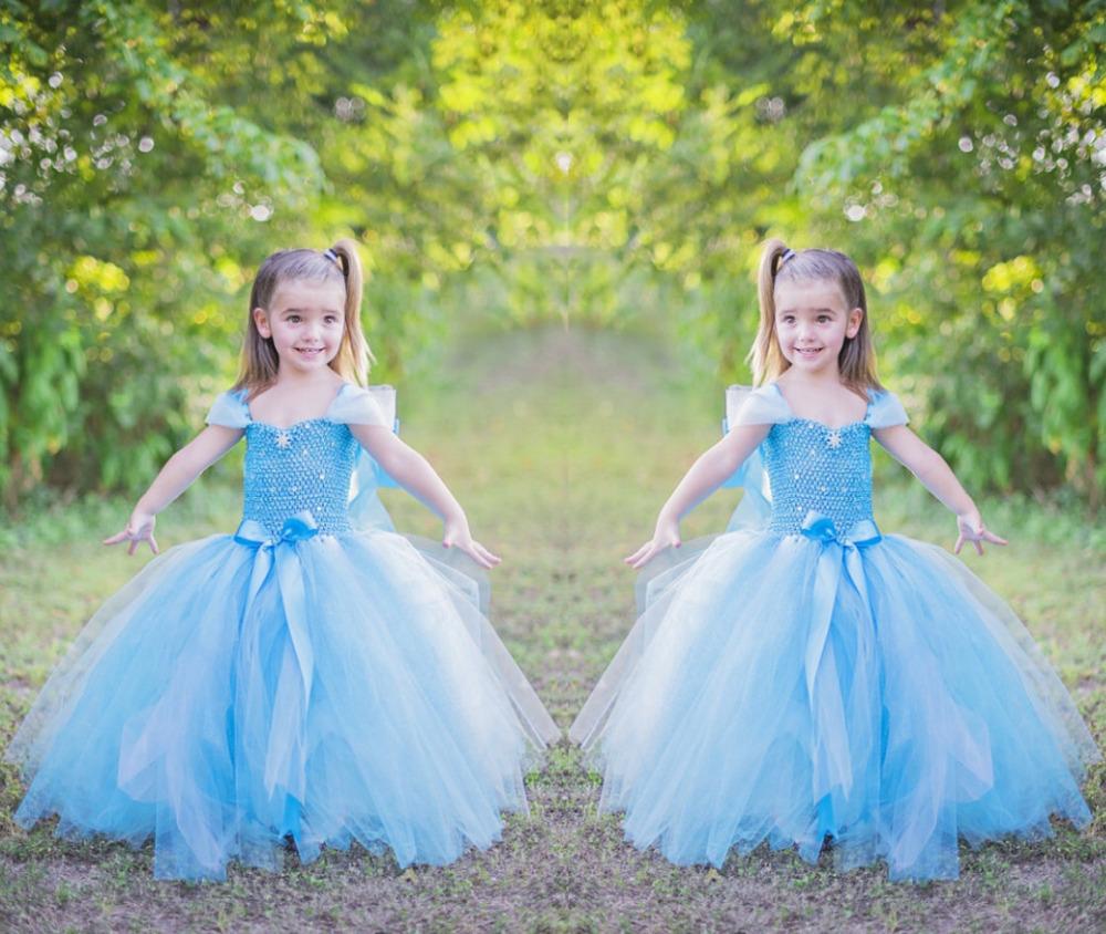 nueva venta caliente nios de hadas azul ngel princesa baln vestido vestido lindo nias de