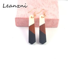 Special earrings, wood resin with classic gifts, geometric round square color female gifts birthday party jewelry