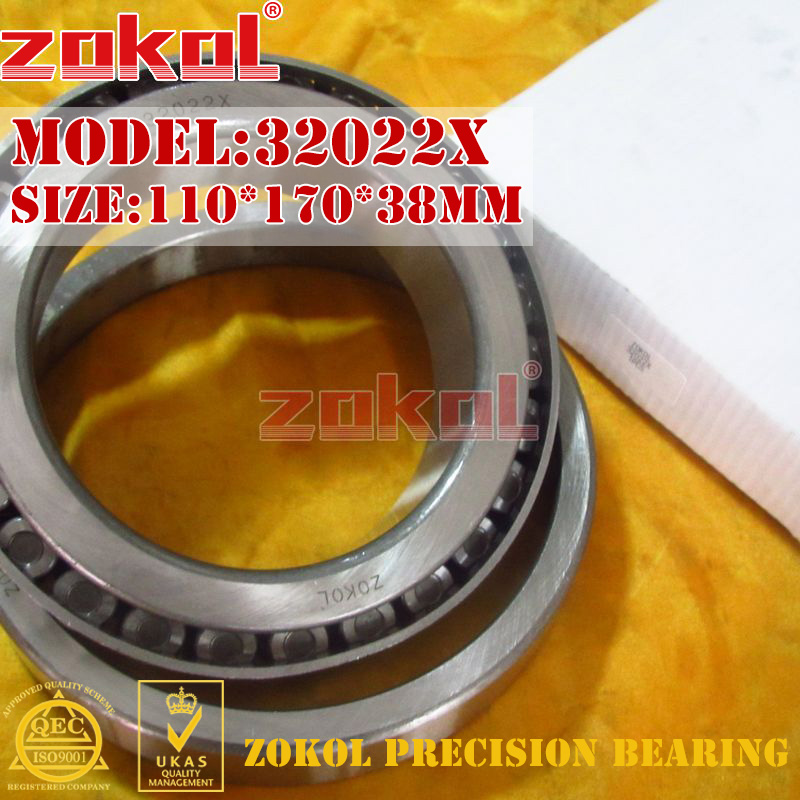 ZOKOL 32022 X bearing 32022X 2007122E Tapered Roller Bearing 110*170*38mm zokol bearing 31310 27310e tapered roller bearing 50 110 29 5mm