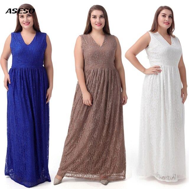 Women Big Large Plus Size Elegant Sexy Evening Maxi Long Little