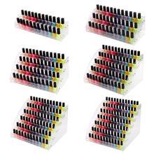 Multi-layer Nail Polish Organizer Lipstick Cosmetics Multi-functional Display Stand Storage Box Transparent