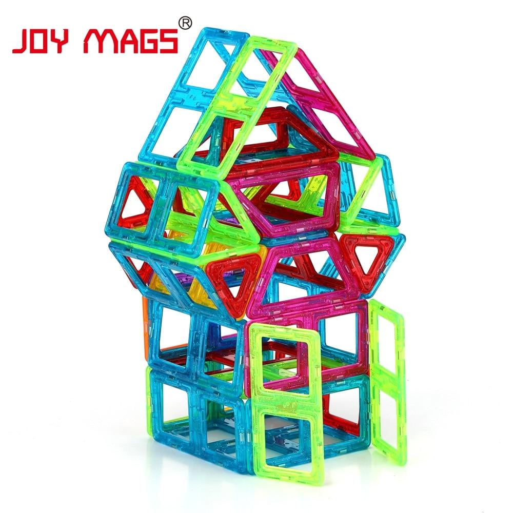 JOY MAGS Мини Магнитті Дизайнер 90/110 / 158Pcs - Дизайнерлер мен құрылыс ойыншықтары - фото 3