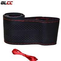 Microfiber Leather Car Steering Wheel Cover 36 38 40CM DIY Steering Wheel Cover Anti Slip Breathable