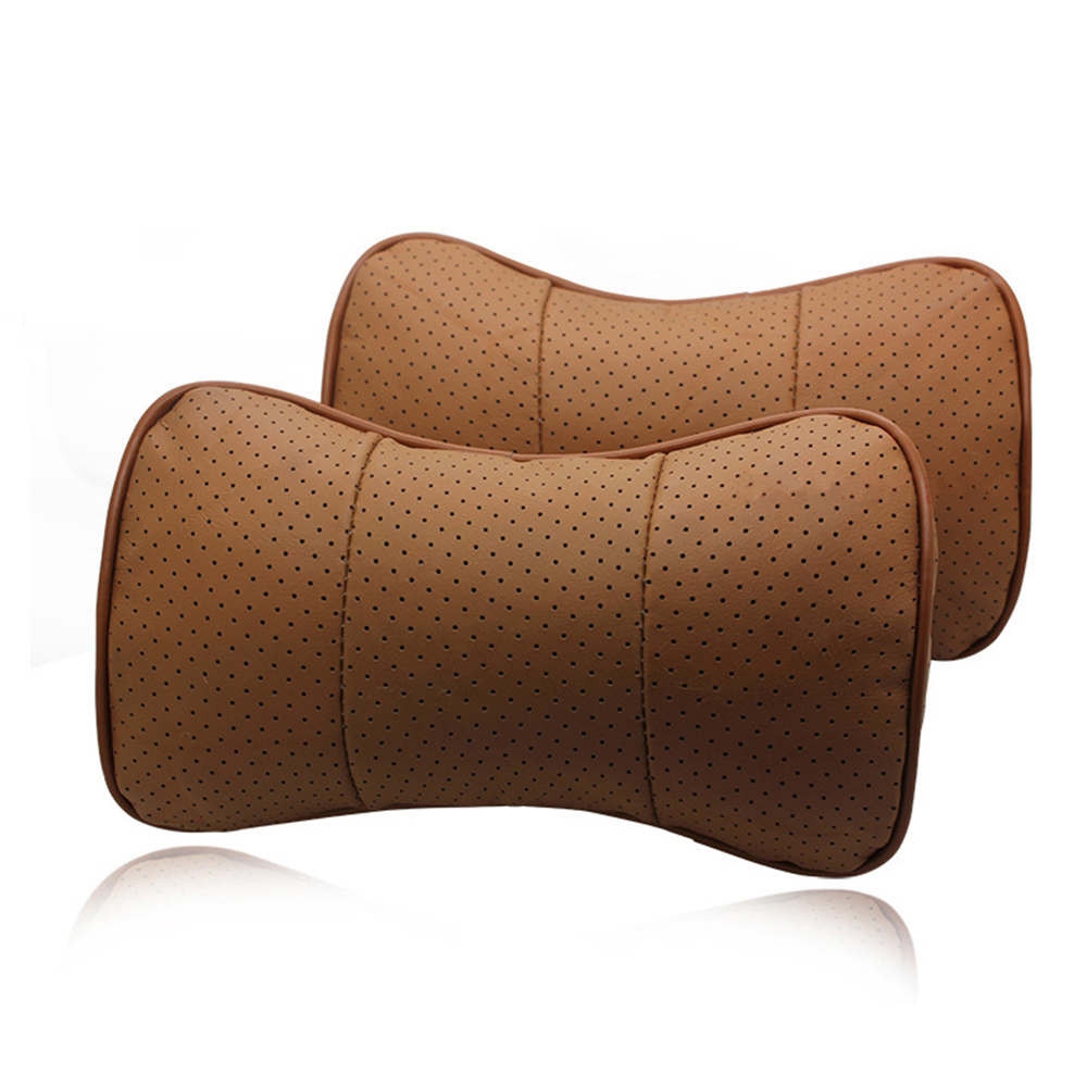 Leather Car Headrest Pillow Neck Rest Pillow Seat Cushion for Ford Mitsubishi Acura Mini Hyundai Volvo