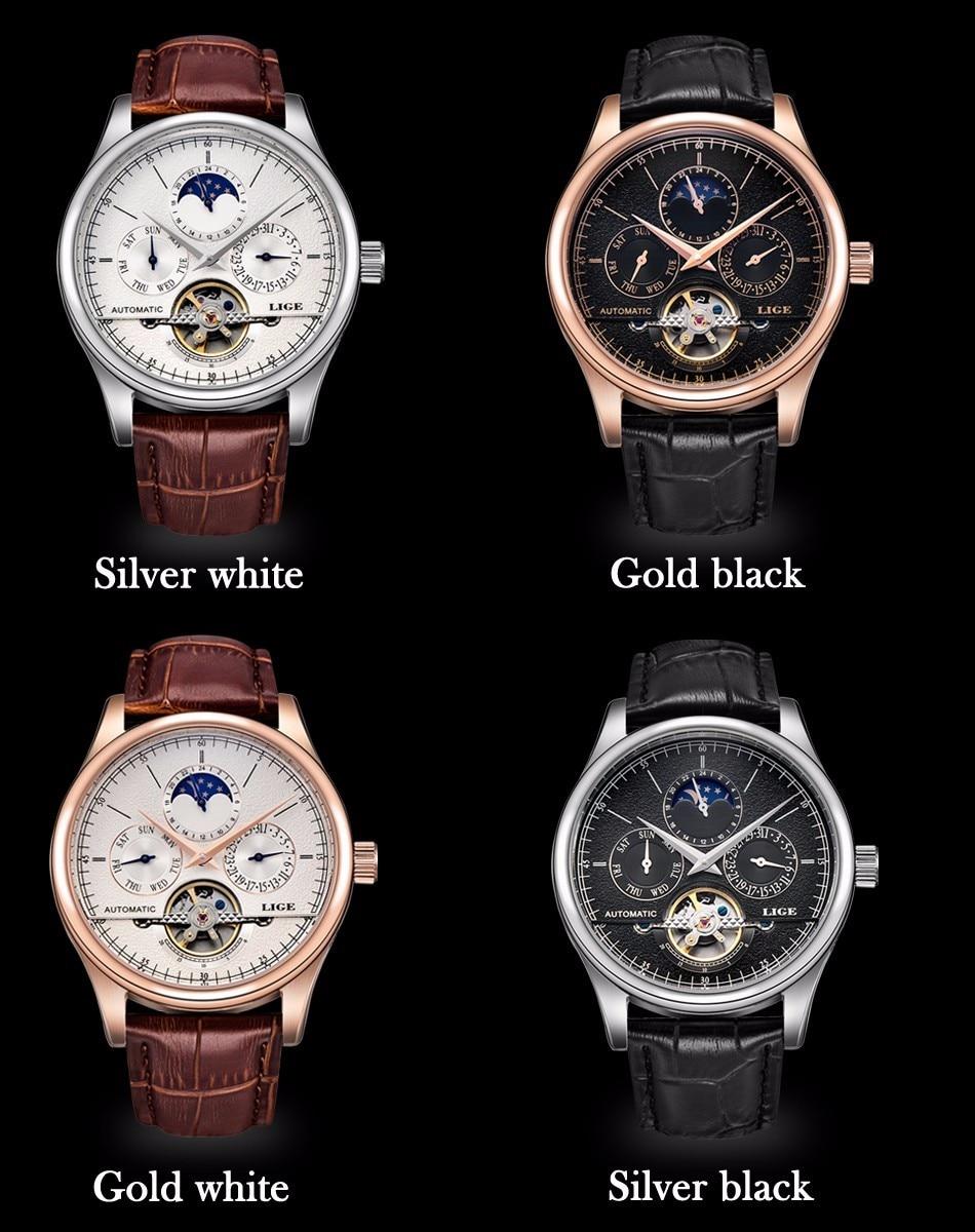 HTB1RpTPfeuSBuNjSsplq6ze8pXaf LIGE Brand Men Watches Automatic Mechanical Watch Tourbillon Sport Clock Leather Casual Business Wrist Watch Gold Relojes Hombre