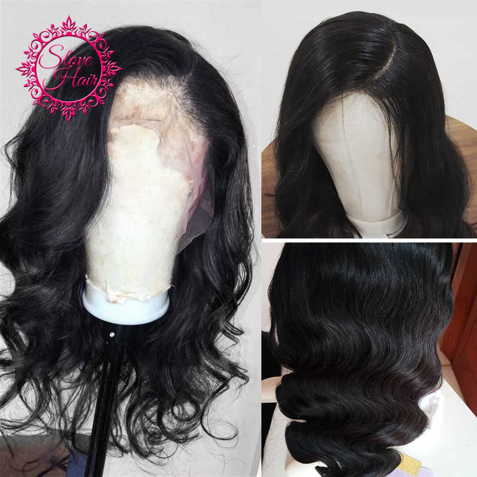 360 Lace Frontal Wig Body Wave Natural Black Remy Brazilian Human Hair Wigs For Women Front Pluck With Baby Hair Full End Slove