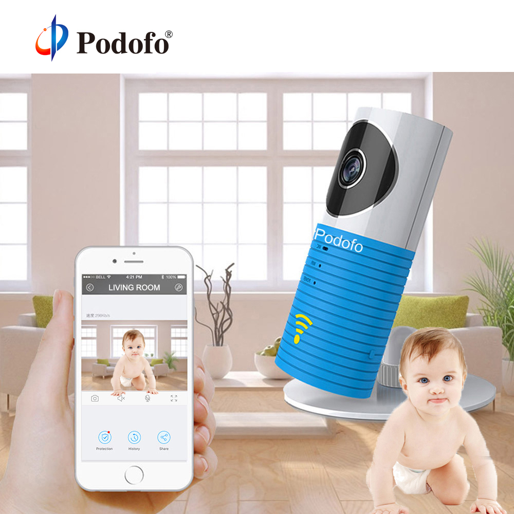 Podofo 720P HD Mini Wireless Wifi Baby Monitor Babysister Ip Camera Infant Baby Video Security Two