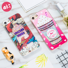 Glitter Liquid Quicksand Phone Cases for iPhone 6 6s Plus 7 8 Plus X