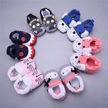 Új Baby Cartoon aranyos cipő fiúk lányok 0-18M gyerekek alkalmi cipő vastag meleg őszi téli újszülött csecsemő első járókelők