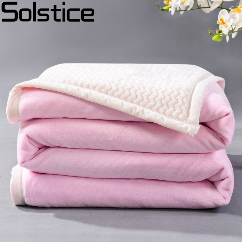 Solstlce winter fashion thick soft throw fleece for beds for Soft blankets and throws