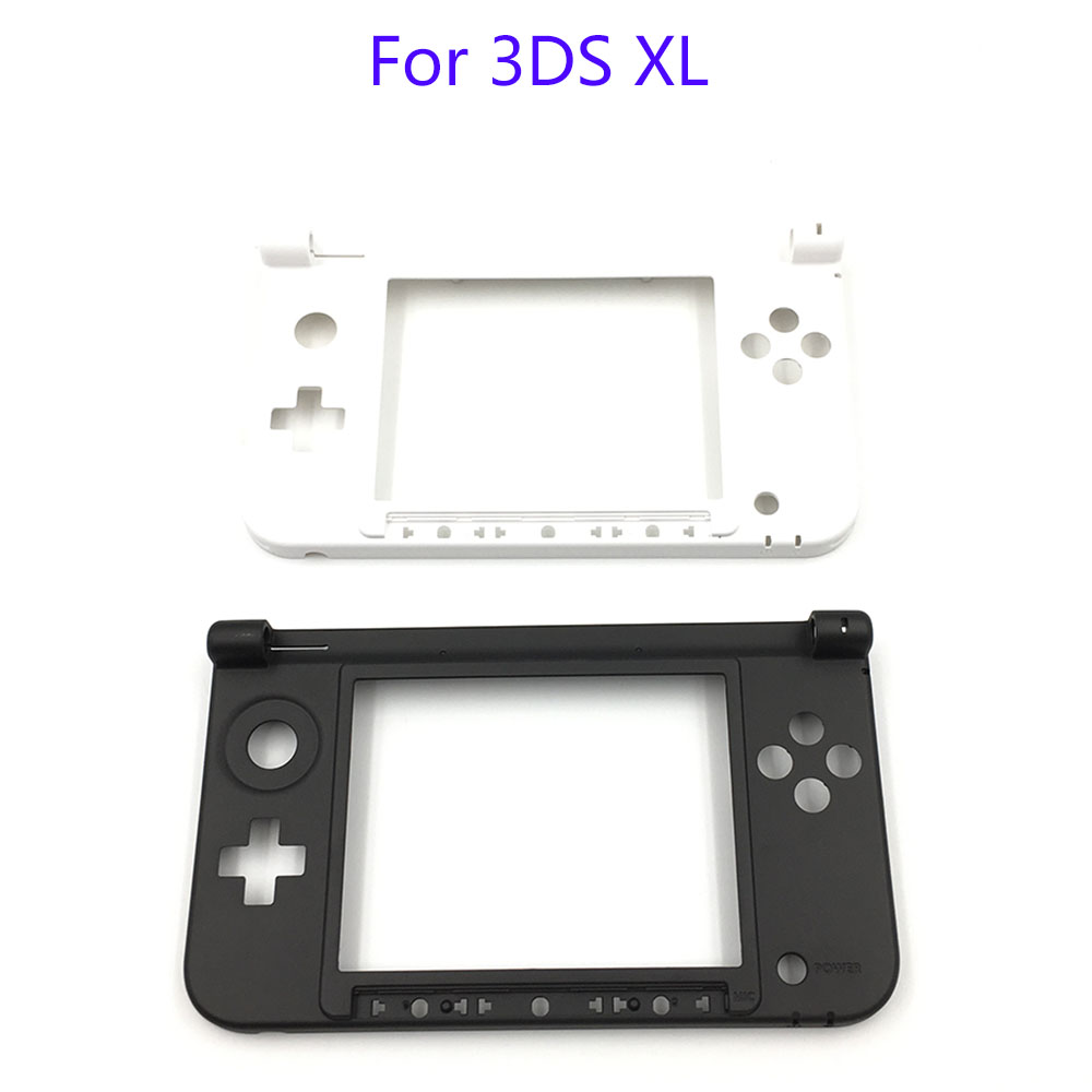 For Nintendo 3DS XL LL Replacement Hinge Part Black Matte Bottom Middle Shell / Housing
