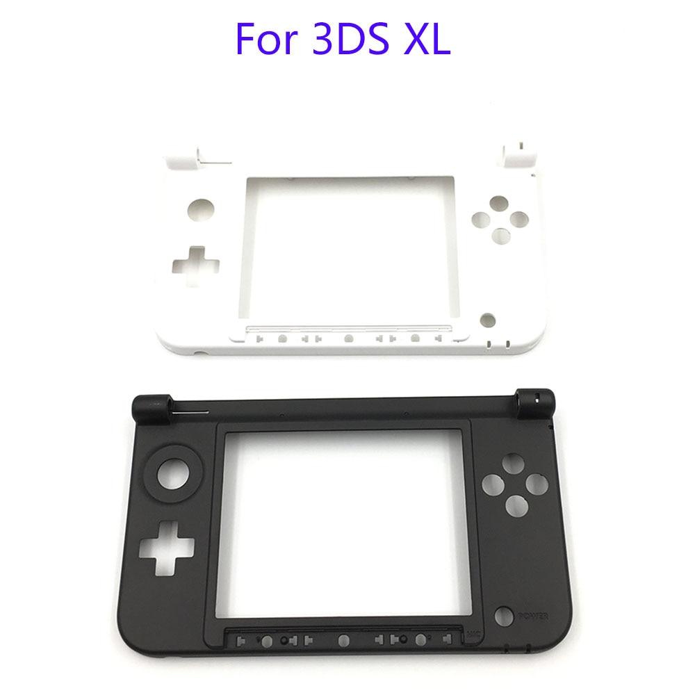 Запасные петли для Nintendo 3DS XL LL, черная матовая Нижняя средняя оболочка корпуса