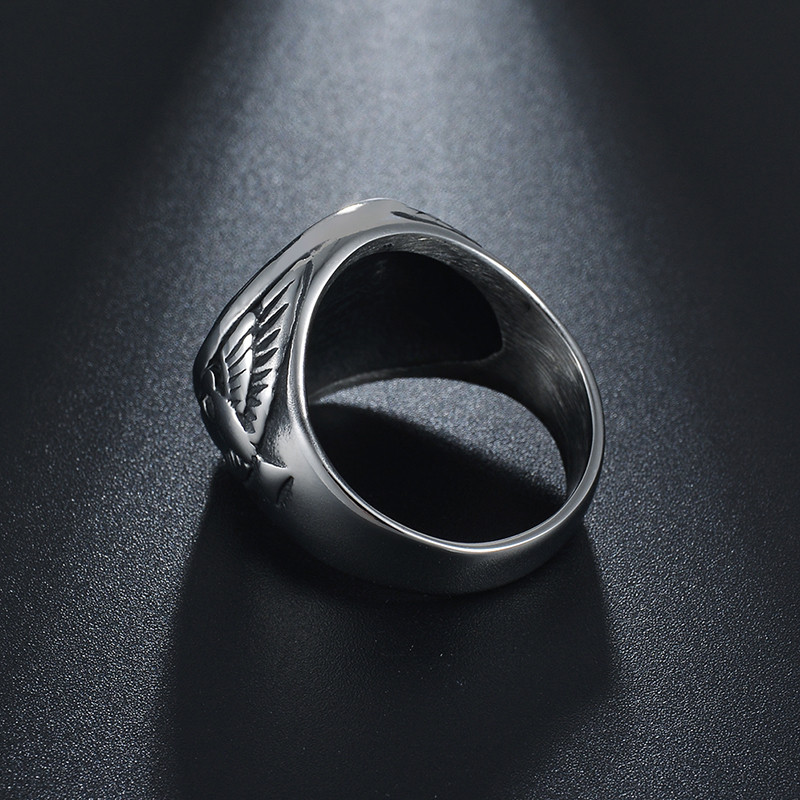 Punk Stainless steel Hexagram Ancient Religion Rings Men Hunter Summon Eagle Ring Wizard Courage Charms Jewelry in Engagement Rings from Jewelry Accessories