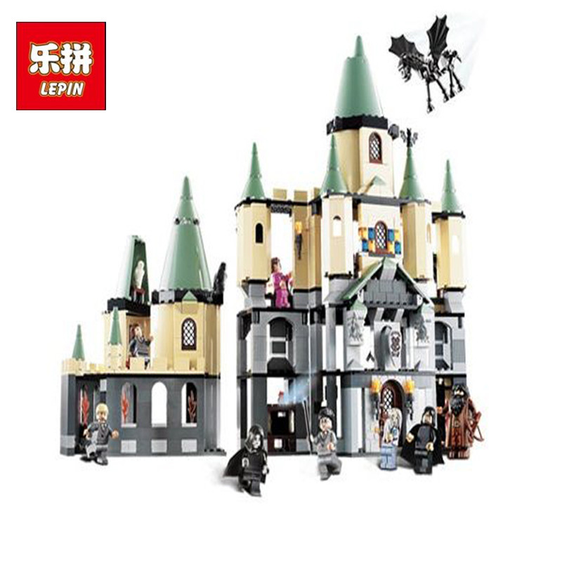 Magic Hogwort Castle Set LEPIN 16029 Movie Series Children Educational Building Blocks Harry Potter Bricks Kids Toys Gift 5378 472pcs set banbao princess series castle building blocks girl friends favorite scene simulation educational assemble toys