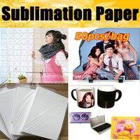 Hohe qualität Sublimation papier 50 teile/los  Wärme Transfer Druck Papier  A4 Sublimation transfer papier durch freies verschiffen