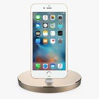 Aluminium desktop mini stand base dock station voor apple iphone 5 se 5c 5 s 6 6 s plus met box