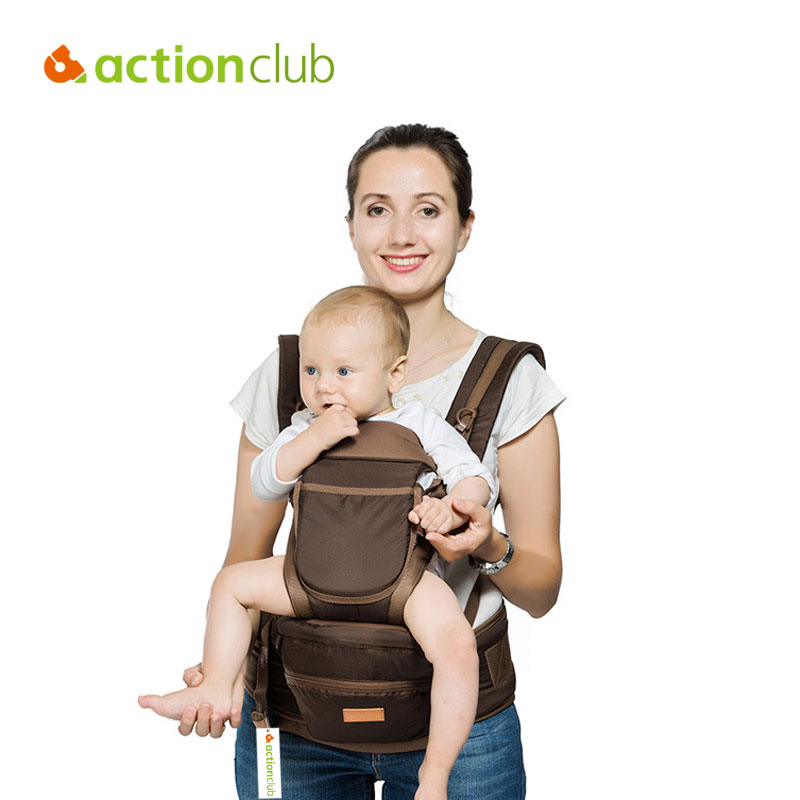 Actionclub Multifunctional Baby Carrier Infant Ergonomic Backpack Hipseat Newborn Adjustable Wrap Sling With Mummy bags  недорого