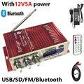 KENTIGER HY-502S Con Adaptador de Alimentación De 12V5A 40 W Mini Amplificador Bluetooth + Cable AV + Control Remoto USB/SD tarjeta de Reproductor de Radio FM