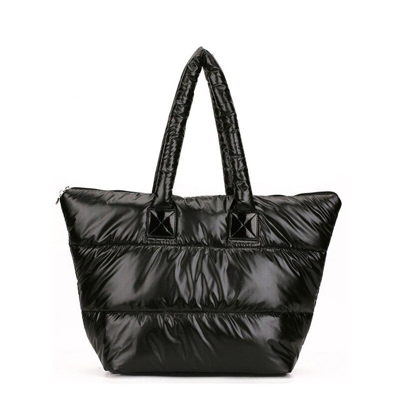 Cotton bag shoulder bag women's handbag down bag fashion winter down cotton single shoulder handbags women's nylon shoulder bag