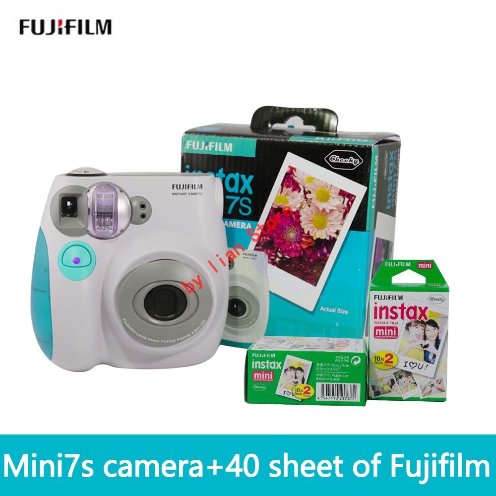 Бесплатная доставка fuji пленка Instax Mini 7 s + film40 Новый люкс fuji камера автоматический таймер ЛОМО пленка камера изображения