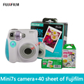 Free shipping of fujifilm Instax Mini 7S + film40 new suite fuji camera automatic timer lomo film camera imaging