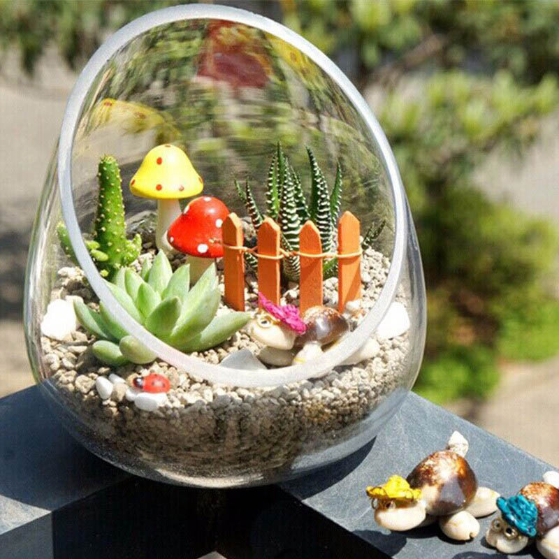 20 pcs diy wooden small fence moss terrarium flowerpot handicrafts mini toys fairy garden. Black Bedroom Furniture Sets. Home Design Ideas