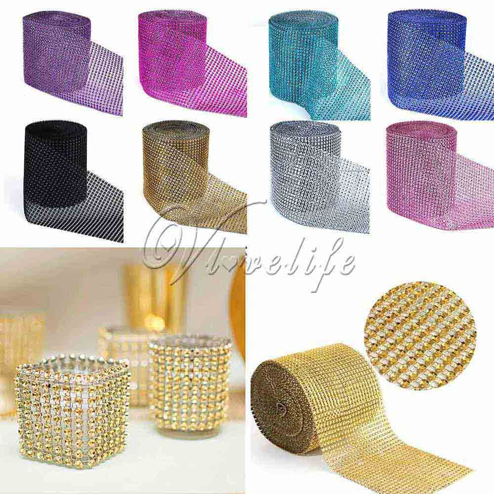 1 yard x 12cm wide multicolor crystal diamond mesh rhinestone 1 yard x 12cm wide multicolor crystal diamond mesh rhinestone ribbon for wedding party gift vase floral decoration in party diy decorations from home reviewsmspy