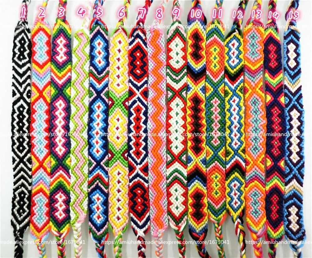 AMIU Friendship Armbånd Dropshipping Personlig Vævet Rope String - Mode smykker - Foto 3
