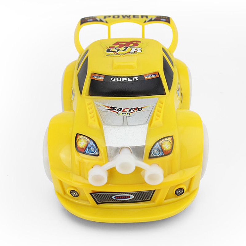 Electric Racing Car Toy for Kids Flashing Musical Racing Car Toy Indoor Outdoor Mini Car for Baby Boys Random Color