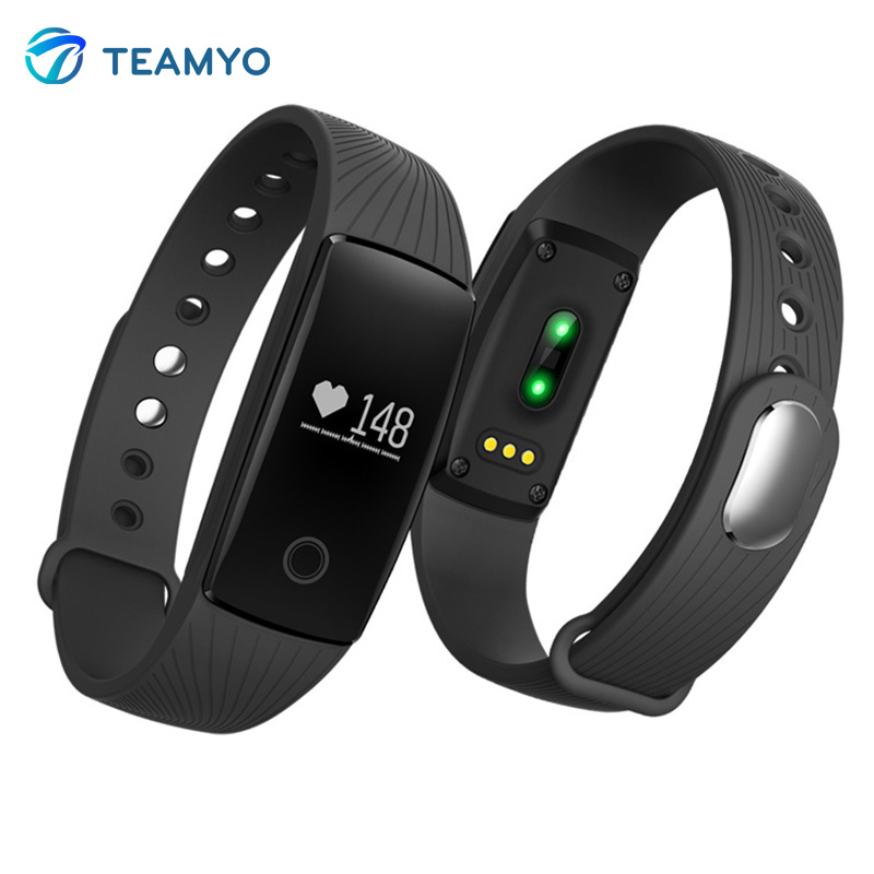 Teamyo V05C Heart Rate Monitor smart wristband Fitness Tracker wearable devices smart watch for iPhone Samsung