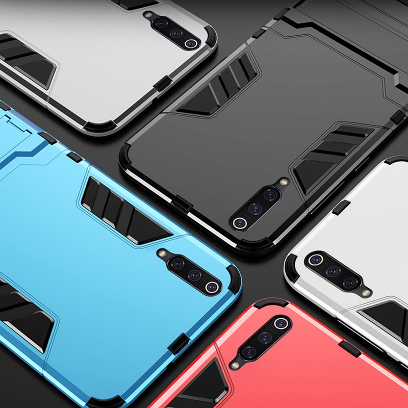 Keajor case for Xiaomi mi 9 case TPU PC Hard Plastic Kickstand Dual Hybrid Cover on For Xiaomi mi 9 se mi 8 pocophone f1 redmi 6 in Fitted Cases from Cellphones Telecommunications