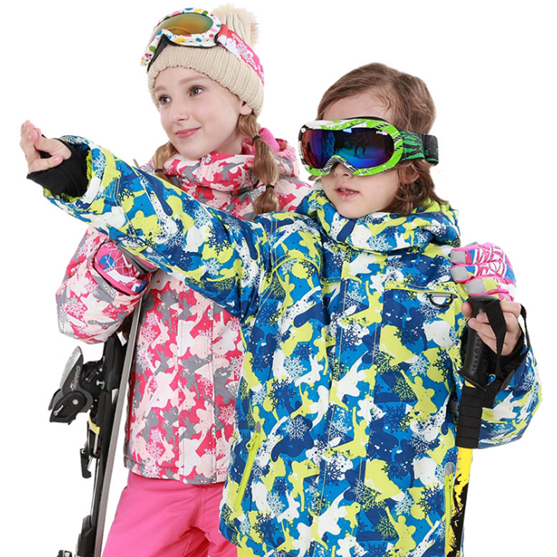 Kids Winter Clothes Ski Suit Windproof Jackets+Pants Kids Jacket For Girls And Boys Clothing Set Outdoor Snowsuit -20-30 DegreeKids Winter Clothes Ski Suit Windproof Jackets+Pants Kids Jacket For Girls And Boys Clothing Set Outdoor Snowsuit -20-30 Degree