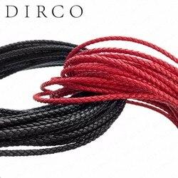 Over de Fit 3mm 100 Meter Lederen Koord Echt Gevlochten Lederen Nappa Koe Lederen Accessoires Voor Sieraden Maken Geweven touw