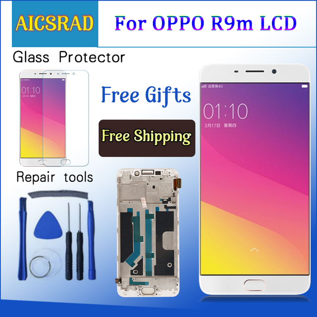 "For 5.5"" OPPO R9 R9m R9tm X9009 LCD Display Screen Frame+Touch Panel Screen Digitizer With Frame Assembly"