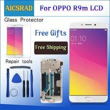 Marco de pantalla LCD para OPPO R9 R9m R9tm X9009 de 5,5 pulgadas + Pantalla de Panel táctil de Digitalizador con marco de montaje
