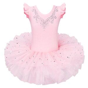 Image 1 - BAOHULU robe de Ballet Tutu grand nœud danse Ballet danse Costumes pour filles Ballet tutu danse vêtements justaucorps gymnastique robe Tutu