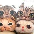 37 cm * 29 cm simulación de la historieta 3D gato siesta almohada colchón y la almohada lavable almohada cintura coche S libre de envío
