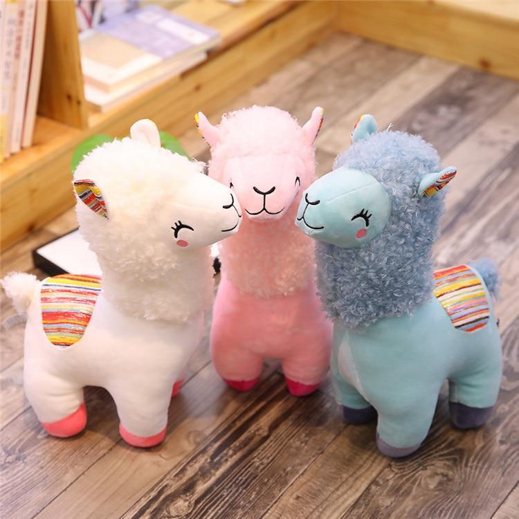 Lovely 25/35cm Alpaca Llama Plush Toy Doll Animal Stuffed Animal Dolls Soft Plush Alpaca For Kids Birthday Gifts 4 Colors