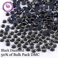 SS6 SS30 Black Diamond DMC Hotfix Rhinestones Flatback Glass For Costumes Dresses Decoration Sewing Accessories