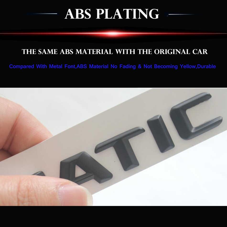 3D Matt Hitam W204 W205 Mobil Emblem C180 C200 C300 C320 C350 C280 C220 C250 C63 Emblema Lencana Stiker Logo untuk Mercedes Benz AMG