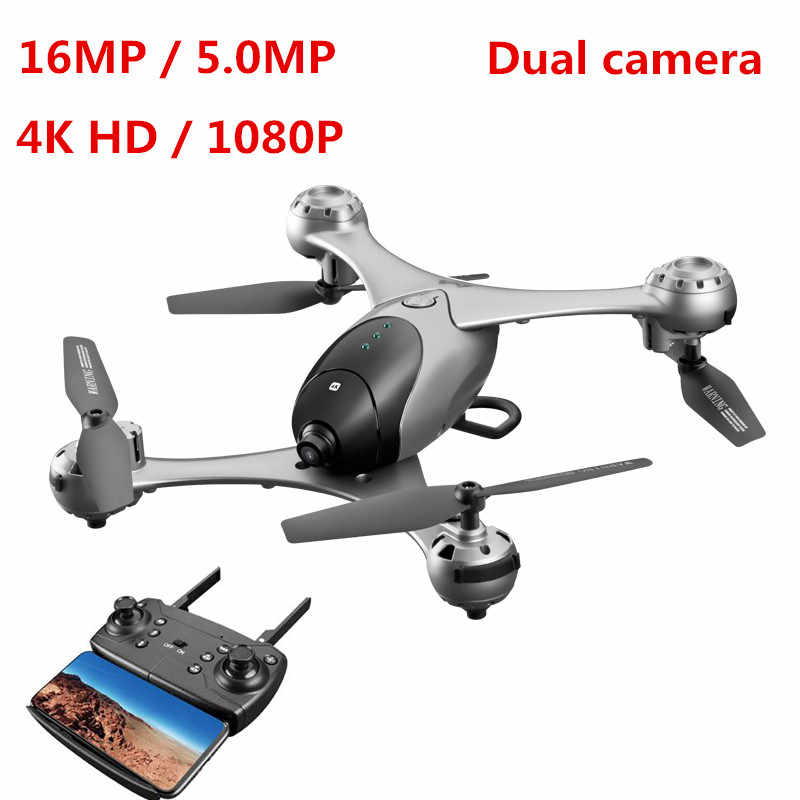 Profissão 4 K HD Video FPV Zangão WI-FI Com 16MP/5.0MP Camera Gimbal RC Drone Quadcopter Modo de Altitude Hold RC Helicóptero