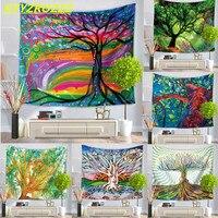 KYYZROZZZ Oil Painting Tree Tapestry Mandala Floral Wall Art Carpet 130cmx150cm 150cmx200cm Life Wall Tapestry Sheet